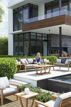 idée de jardin et déco de salon de jardin design en bois