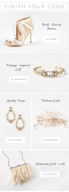 BHLDN | Anthropologie Weddings | Accessories | Email Design | Editorial Design