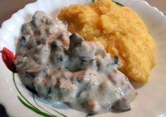 Ciulama cu pui si ciuperci - Bucataria lui tati Mashed Potatoes, Meat, Chicken, Ethnic Recipes, Food, Whipped Potatoes, Smash Potatoes, Essen, Meals