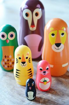 Animal matryoshka by Ingela P. Arrhenius.
