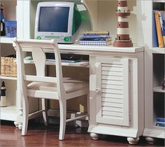 Buy Broyhill Pleasant Isle Computer Desk in White Online Confidently