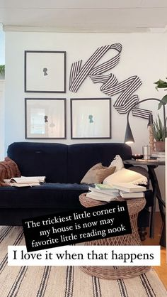 Ribbon above couch—nesting place