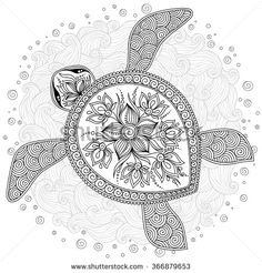 unalome tattoo with elephant / elephant unalome tattoo . unalome with elephant . elephant and unalome tattoo . unalome tattoo with elephant . Turtle Coloring Pages, Adult Coloring Book Pages, Mandala Coloring Pages, Animal Coloring Pages, Colouring Pages, Coloring Books, Coloring Sheets, Mandala Turtle, Turtle Henna