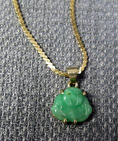 Gemstone Jadeite Jade Apple Green Color Buddha Gold Necklace by TonysEtsyStore on Etsy Gold Necklace, Pendant Necklace, Green Colors, Jade, Buddha, Jewelery, Apple, Gemstones, Trending Outfits