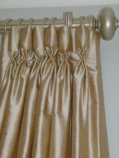 Goblet Pleat style draperies