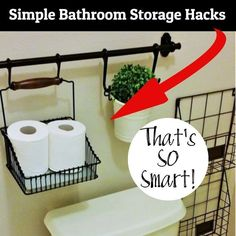 What a genius storage and organization idea for my small half bathroom under the. What a genius storage and organization idea for my small half bathroom under the stairs to get Half Bathroom Decor, Bathroom Hacks, Bathroom Layout, Simple Bathroom, Bathroom Ideas, Bathroom Remodeling, Bathroom Furniture, Budget Bathroom, Bath Ideas