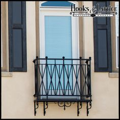 Westwood Decorative Iron Balcony $459.85 - Now with color options! #curbappeal #exteriordecorating