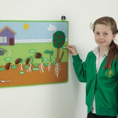 These colourful wall hangings teach children all about the life cycles of frogs, plants, butterflies and chickens. Kindergarten Science Projects, Science Projects For Kids, Preschool Science, Preschool Crafts, Classroom Wall Displays, Classroom Walls, Vegetable Crafts, Garden Crafts For Kids, Theme Nature