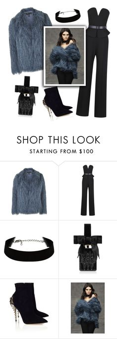 """Faux Fur Style"" by junglover ❤ liked on Polyvore featuring Topshop, Martin Grant, Givenchy and Paul Andrew"