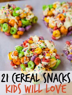 21 Cute And Colorful Cereal Snacks That Kids Will Love