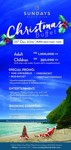 Christmas is coming! Sundays Beach Club share the magic on us ^_^