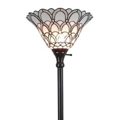 Amora Lighting Tiffany-style Jewel 72-inch Floor Torchiere Lamp | Overstock.com Shopping - The Best Deals on Tiffany Style Lighting