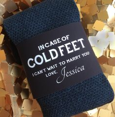 Custom Cold Feet Socks Label for Groom Groom by RelaxEventStudio