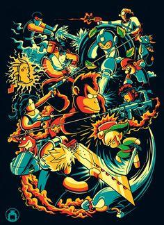 Nessa edição da galeria temática, confira uma seleção de artes inspiradas em games clássicos como Super Mario, Street Fighter, GTA e Final Fantasy.