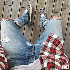 #OutfitFromAbove @_davidgoetz Flannel: #FearOfGod Jeans: #FearOfGod Sneakers: #SaintLaurent by outfitfromabove