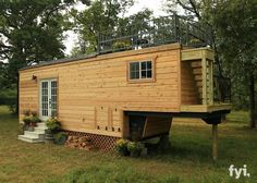 The Honeymoon Suite: a 264 sq ft tiny house on wheels by Slabtown Customs of Arkansas. Featured on the show Tiny House Nation.