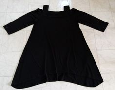 Chicos NWOT size 1 Small / Medium Black Cold Shoulder Sharkbite Knit Tunic Top    | Clothing, Shoes & Accessories, Women's Clothing, Tops & Blouses | eBay!