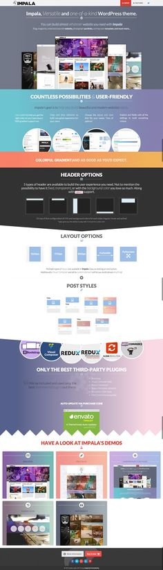 Impala – Colorful and Versatile WordPress Theme