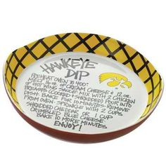 Iowa Hawkeyes Recipe Dip Platter.  Perfect for Hawkeye game days!  http://www.iowabook.com/blboraandmo.html
