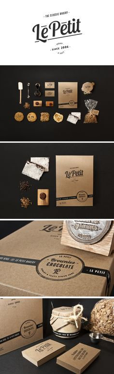 Le Petit Bakery by Manuel Navarro Orozco, via Behance I like that there is minimal colors and the black against the brown color is a nice contrast.