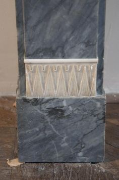 Antique Directoire style fireplace in Blue Turquin marble and Statuary Carrara marble inlays ( detail) Marmi, Carrara Marble, Making Out, Carving, Antiques, Blue, Painting, Style, Decor