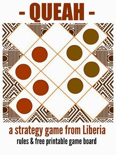 "Marie's Pastiche: West African Game: How to Play the Liberian Game ""Queah"" 