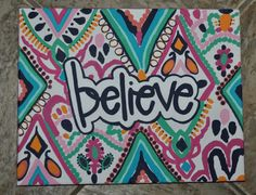 """Hand Painted Quote Monogram Canvases (11x14"""") on Etsy, $25.00"""