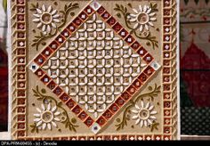 Stock Photo: Modern mud and mirror work , Bhuj , Kutch , Gujarat , India. Mirror Painting, Mirror Art, Mural Painting, Clay Wall Art, Mural Wall Art, Clay Art Projects, Clay Crafts, Diy Projects, Mud Paint