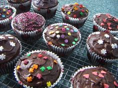 This recipe was given to my mom by a next door neighbor many years ago. It makes a wonderful dark chocolate cupcake, or double the recipe for a sheet or layer cake. It has become a family favorite and is always requested at birthdays.