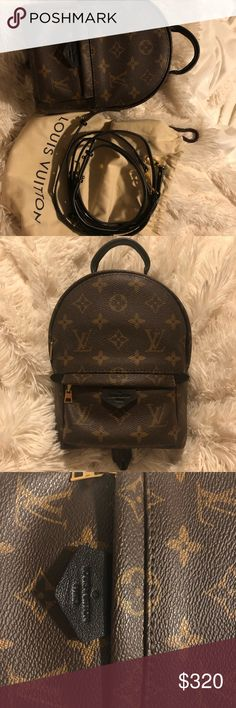 Palm Springs Mini Not authentic. Looks and feels same as authentic. Original quality. Have walked confidently into LV store and have received compliments from SA's on the bag. Excellent condition. Date code reads CA1187. No rips or tears. No stains. Non smoking household. Always out of stock! Louis Vuitton Bags Backpacks