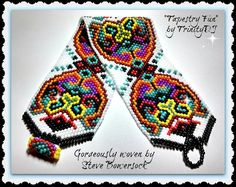 2015 - 52 - Tapestry Fun - Odd Count Peyote Stitch Bracelet Pattern - One of a Kind - Miyuki Round Rocailles version. Peyote Bracelet, Peyote Beading, Beaded Bracelets, Beadwork, Jewelry Patterns, Bracelet Patterns, Beading Patterns, Peyote Stitch Patterns, Bracelets