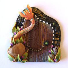 Mermaid Tail Fairy Door by Claybykim on Etsy