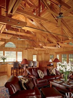 A Shingle Style Boathouse In Missouri Is Reimagined As Sophisticated E Red Oak Floorstypes Of Woodwood Ceilingsreal