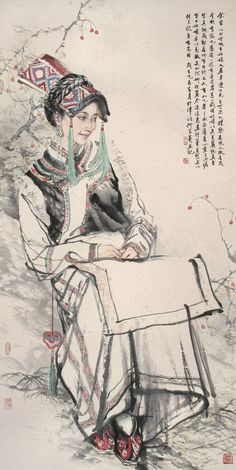 Kai Fine Art is an art website, shows painting and illustration works all over the world. Japanese Drawings, Japanese Art, Japanese Painting, Chinese Painting, Ink Painting, Figure Painting, China Art, Traditional Paintings, Watercolor And Ink