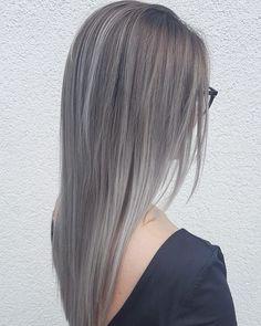 """Gefällt 186 Mal, 2 Kommentare - LAURA STANGIER (@laura_stangier) auf Instagram: """"Grey  #hair #hairstyle #instahair  #hairstyles #haircolour #haircolor #hairdye #hairdo #haircut…"""""""