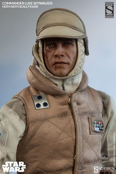 Figurine 1/6 Commander Luke Skywalker - Hoth - Machinegun.fr