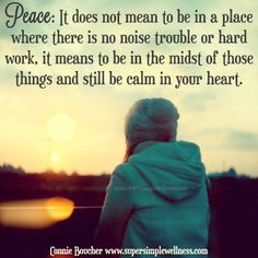Something I have longed for my whole life. I pray I teach my children how to maintain ✌ peace...