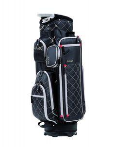 Das neue JuCad Golf Cartbag Function Plus präsentiert sich in 6 modernen Farbvarianten:  Schwarz, Schwarz-Titan, Beige-Grün, Retro, Pink-Kariert, Beige-Pink,