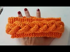 Örgülü Saç Bandı/ Cable Knitted Headband - YouTube Knitting Stitches, Knitting Patterns Free, Free Knitting, Stitch Patterns, Crochet Patterns, Headband Pattern, Knitted Headband, Ear Warmer Headband, Winter Headbands