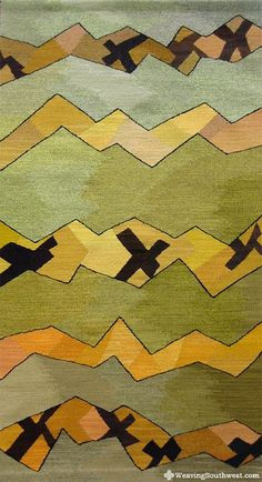 """Pathways, original handwoven tapestry by Robin Reider, 61"""" x 33"""", naturally hand-dyed wool, 2012"""