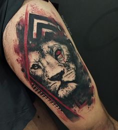 Abstract lion design