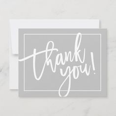 PHOTO THANK YOU cute modern brush lettered gray - tap/click to personalize and buy #wedding #thanks #thank #you #note Wedding Thanks, Wedding Thank You, Thank You Customers, Birthday Thank You, Custom Thank You Cards, Brush Lettering, Smudging, Paper Texture, Just For You