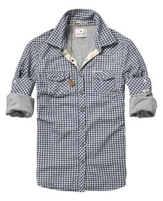 jersey lined checkered shirt