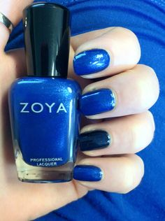 Just noticed that my mani in Song (with Zoya Indigo accent nail) matches the blu. - Just noticed that my mani in Song (with Zoya Indigo accent nail) matches the blue shirt I'm weari - Blue Nail Polish, Nail Polish Brands, Blue Nails, Manicure And Pedicure, Gel Nails, Pedicures, I Believe In Pink, Accent Nails, Perfect Skin
