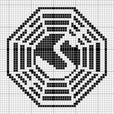 swan pattern.png Lost Dharma Initiative. I could make this into a crochet afghan. :)