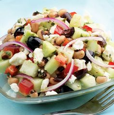 Cucumber and Black-Eyed Pea Salad is the perfect hot weather dish. Stir in some shredded rotisserie chicken to make it a meal. No cooking!