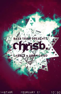 Bass Tribe (#7) San Diego, at The Stage Bar 21 Feb 2013. With LA's freshest bass-weight producer, ChrisB from the Headtron talent tribe, along with local _Labels, and I opened the night with fresh, UK style vibes that melded the tribe to the dance floor. Artwork by Vervor's Aaron Null. #femaledj #bassmusic #edm #ukbass #urbnlgndbass