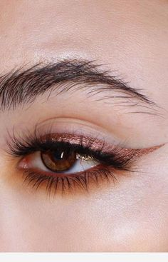 Metallic Eyeliner Is the Beauty Look You'll Be Wearing to Every Festive Party - All About Eyes / Augen Make-up und Pflege - Maquiagem Makeup Hacks, Makeup Goals, Makeup Inspo, Makeup Inspiration, Makeup Ideas, Makeup Tutorials, Eye Makeup Designs, Cute Makeup, Pretty Makeup
