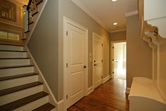The Waldon Pond built by Homes By Dickerson stairway and lockers. Custom Built Homes, Custom Home Builders, Basements, New Builds, Staircases, Stairway, Pond, Lockers, How To Memorize Things