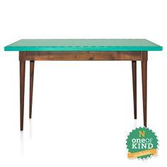 Aparador em madeira e laca verde turquesa  - N Store